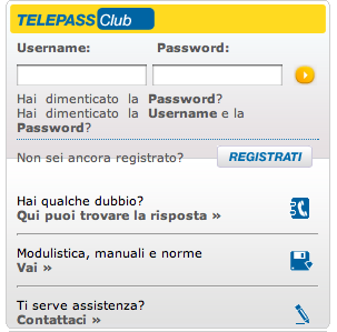 Telepass cambio targa auto procedura online