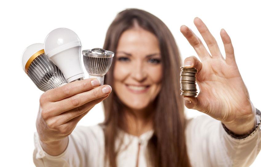 come risparmiare sulla bolletta dell'energia elettrica con i led