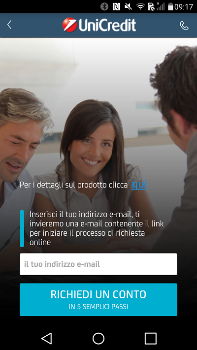 Conto corrente Unicredit online