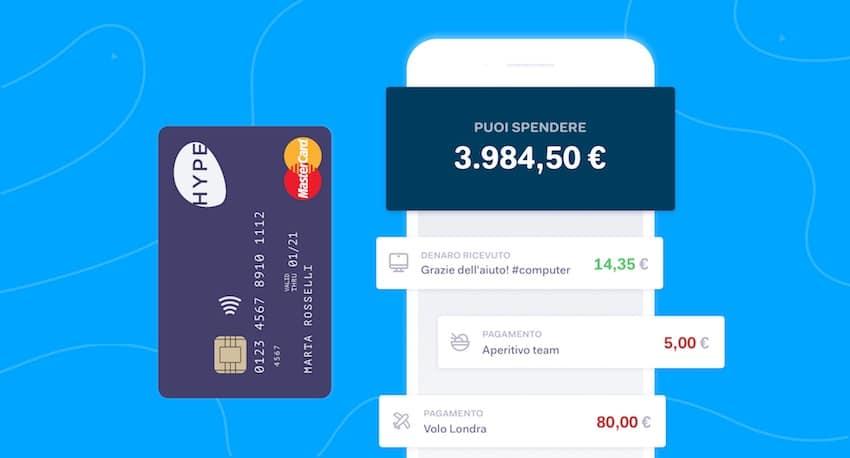 carta hype migliore banca online